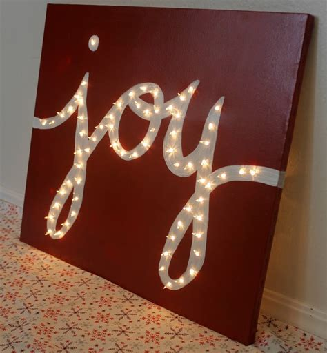 holiday quot joy quot light marquis canvas child at heart blog