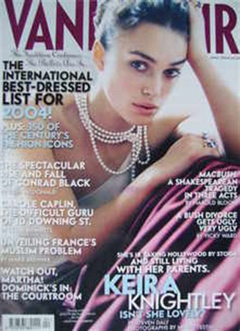 Vanity Fair Keira Knightley by Vanity Fair Magazine Keira Knightley Cover April 2004