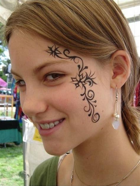 schoene tattoo designs auf gesicht tattoosideencom