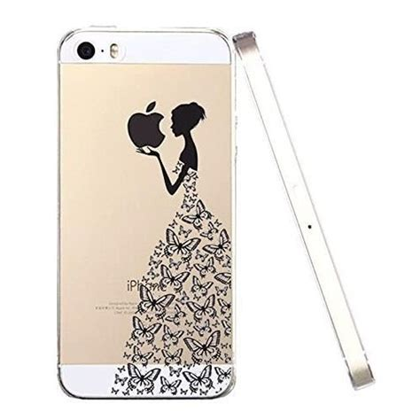 transparente housse iphone 5 coque iphone 5s coque 3d relief luxe papillon fille ultra mince