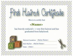 first haircut certificate template With my first haircut certificate template