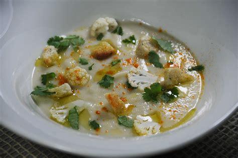 huile de coco cuisine velouté de chou fleur crème de coco coriandre