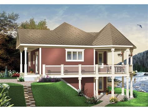 Basement Mediterranean House Plans Two Story Waterfront