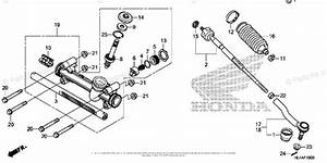 Honda Side By Side 2017 Oem Parts Diagram For Steering
