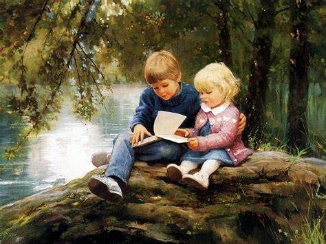 Cute Boy & Girl....awesome Painting