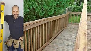 How To Build A Deck Part 6 Railings And Skirt