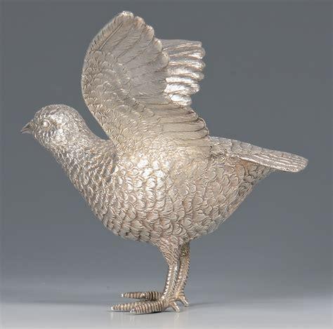 lot 444 sterling silver bird