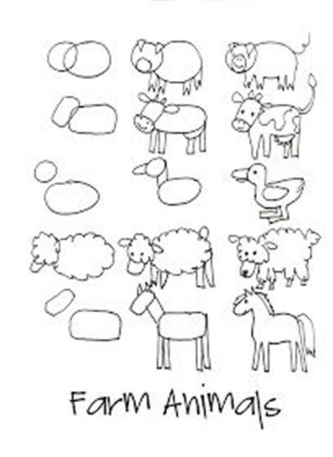 drawing simple farm animals art lessons pinterest
