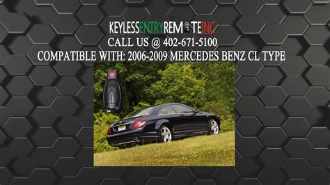 How To Replace Mercedes Benz Cl Type Key Fob Battery 2006