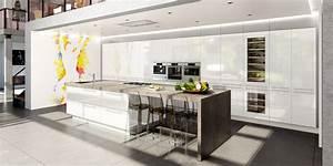 cuisine contemporaine avec ilot central cuisines charles With modele de cuisine contemporaine