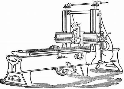 Clipart Planning Machining Machine Lathe Cliparts Clip