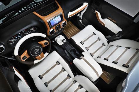 jeep rubicon white interior jeep wrangler 2 concepts au salon nautique de paris