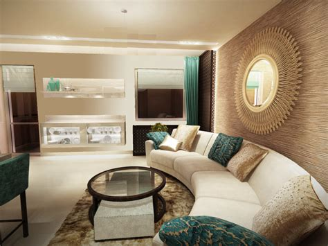 Modern Contemporary Rooms, Turquoise And Beige Bedding