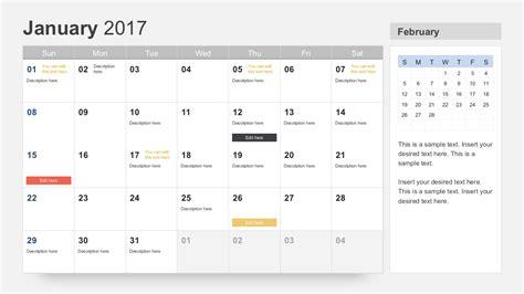 powerpoint calendar template free calendar 2017 template for powerpoint