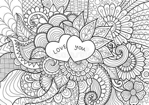 libro sui fiori i fiori nel cuore modellano per i libri da colorare per la