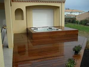 CONTOUR EXTÉRIEUR EN BOIS POUR SPA Terrasses en bois Aménagement extérieur bois Pessac