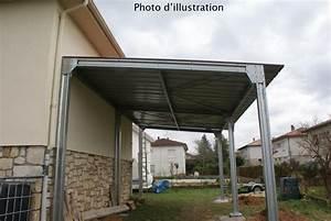 Abri En Kit : abri de voiture en kit mono pente 4 x 8 x 2 38m direct ~ Premium-room.com Idées de Décoration