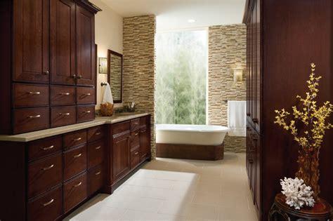 Kraftmaid Bathroom Wall Cabinets by Kraftmaid Garrison Cherry Bath Cabinets Traditional