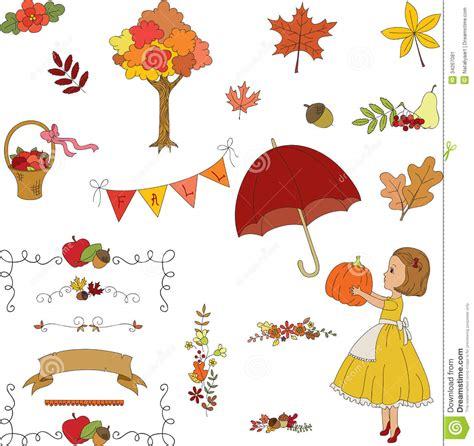 clipart autunno clipart disegnato a mano giardino di autunno immagine
