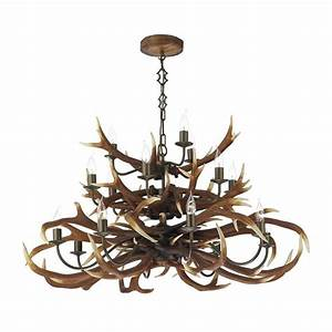 Dar lighting ant antler decorative light tiered
