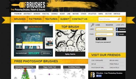 websites    photoshop brushes photography