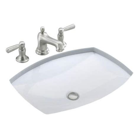 bathroom sink drain home depot kohler kelston under mounted bathroom sink with overflow