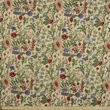 Upholstery Fabric Sydney by Floral Cottage Tapestry Linen 140 Cm Spotlight Australia