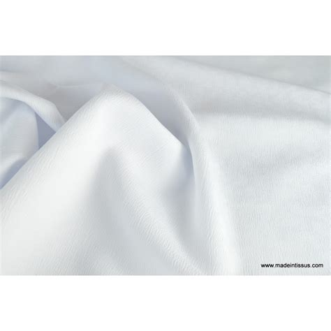 tissu grande largeur antitaches blanc pour nappes made in tissus