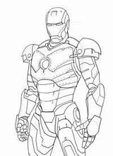 Iron Coloring Drawing Pages Colouring Printable Draw Mk Suit Line Head Armor Playboy Avengers Drawings Marvel Techniques Google Cartoon Easy sketch template