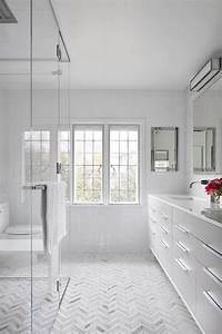 Chevron Shower Floor - Contemporary - bathroom - Clean ...