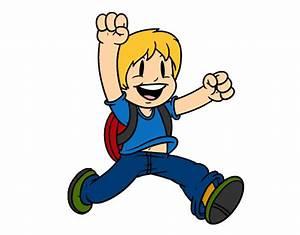 Dibujo de Niño brincando pintado por Arturinmys en Dibujos net el día 25 02 13 a las 23:04:03