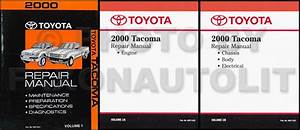 2000 Toyota Tacoma Pickup Wiring Diagram Manual Original