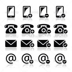 Mobile Phone and Email Icons