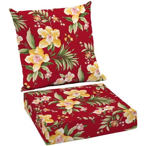 patio cushion sets walmart better homes and gardens outdoor patio wicker seat cushion