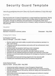 References Examples For Resumes Security Guard Resume Sample Resume Com