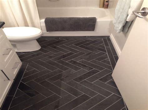 grey herringbone tile bathroom gray slate herringbone tiles pictures
