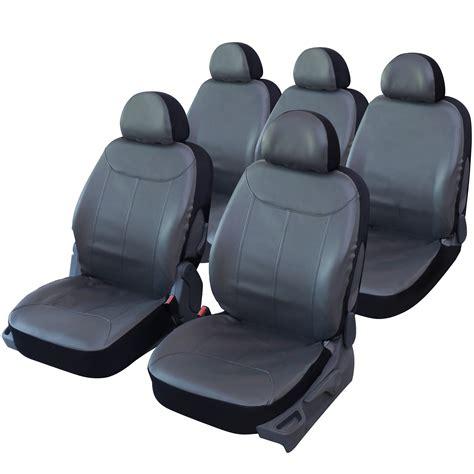housse de voiture simili cuir housse de si 232 ge auto universelle simili cuir gris pour monospace 5 places housse auto