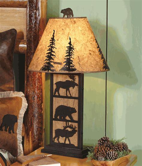 bear moose elk table lamp