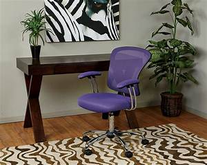 lilac canvas padded swivel teen desk chair with armrest With cute teen desk chairs