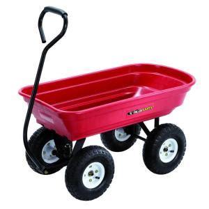depot wagon gorilla carts 400 lb poly wagon gor100 14 the home depot Home