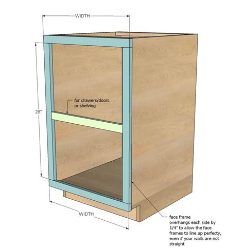 how to build a cabinet ana white face frame base kitchen cabinet carcass diy projects