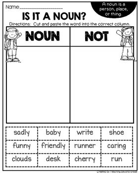 nouns worksheets by teaching second grade teachers pay