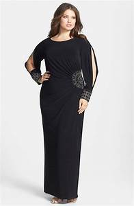 Formal plus size dresses with sleeves style jeans for Formal dress for wedding plus size