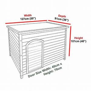 Extra large dog kennel sloped roof wooden kennels xl dog for Large dog house measurements
