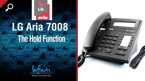 Lg Aria 7008 Phone Handset -- The Hold Function [infiniti