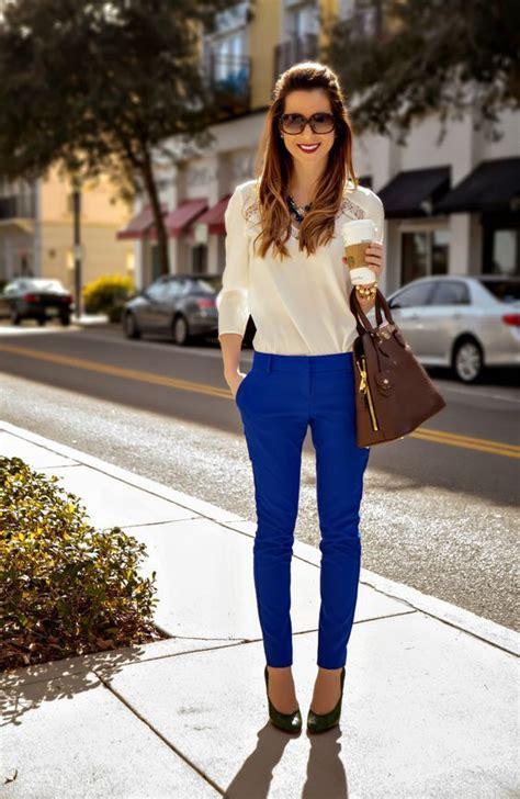 cobalt pants outfit  work cobalt blue pants outfits