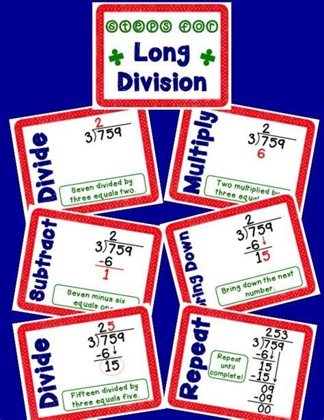 steps  long division anchor charts