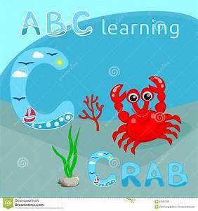 La Centrale Alphabet : la lettre abc de l 39 alphabet c d 39 animal de mer de fond d 39 abc badine le crabe rouge mignon avec la ~ Maxctalentgroup.com Avis de Voitures