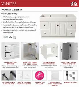 Design House Wyndham 24 In  W X 18 In  D Unassembled Bath