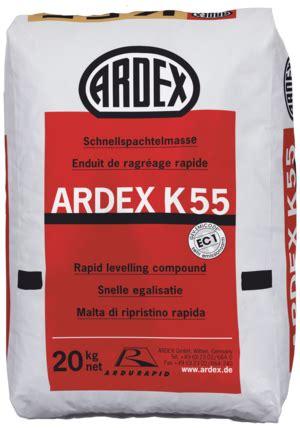 Ļoti ātri žūstošs pašnivelējošais grīdām ARDEX K55 ...